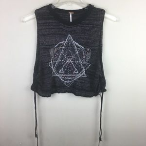 Free people Zodiac crop top with lace up sides